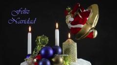 Feliz Navidad ARGENTINE Stock Footage