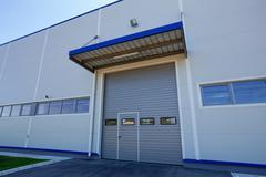 aluminum facade - stock photo