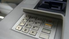 Keypad numbers ATM cash machine - stock footage
