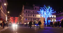 Place Gutenberg, Christmas in Strasbourg, France, Europe Stock Footage