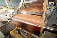 copper foil bending machine - stock photo