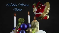Irish ,Nollaig Shona Dhuit - stock footage