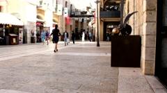 Mamilla street in Western Jerusalem Stock Footage