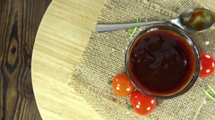 Bbq sauce (not loopable) Stock Footage