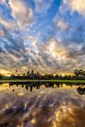 Angkor wat in sunrise Stock Photos