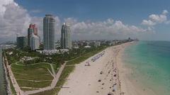 Miami Beach aerial view Stock Footage