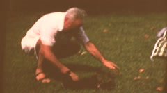 Vintage home movies,   dachound Stock Footage