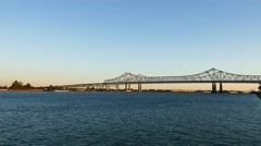 The Great new Orleans Bridge. 4k UHD. Stock Footage