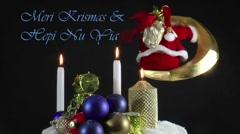Tok Pisin , Meri Krismas & Hepi Nu Yia Stock Footage