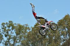 hollywood stunt driver 2 show in movie world gold coast - stock photo