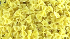 Bow-tie pasta (not loopable) Stock Footage