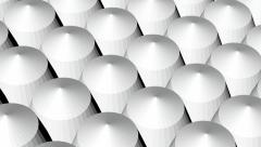 White poly array Stock Footage