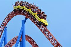 Superman escape in movie world gold coast queensland australia Stock Photos