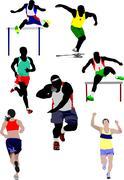 Set of some kinds of athletics. vector illustration Stock Illustration