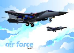 Stock Illustration of air force team. vector illustration