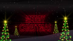 Tannenbaum Merry Christmas Loop Stock Footage