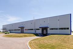 Aluminum facade Stock Photos