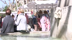 PEOPLE, AIX EN PROVENCE, FRANCE Stock Footage