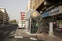 Dubai Bus Stop Stock Photos