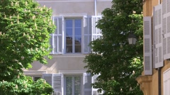 WINDOW AND SHUTTERS, AIX EN PROVENCE, FRANCE - stock footage