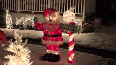 4K Santa North Pole signpost display Stock Footage