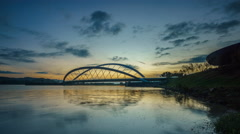 Sunrise At Putrajaya Lake Stock Footage