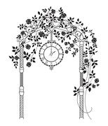 Wedding arch. - stock illustration