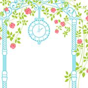 Wedding arch. - stock illustration