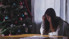 Depressed at christmas 2 Stock Footage