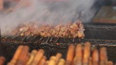Roasted kebabs Stock Footage