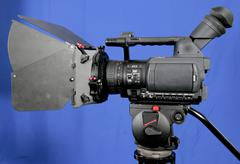 stand hd-camcorder - stock photo