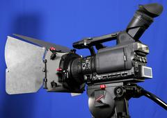 Stock Photo of stand hd-camcorder