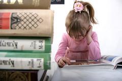 reading girl - stock photo