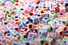 Toy bricks with letters Stock Photos