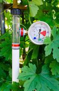 soil water tension (tensiometers) - stock photo