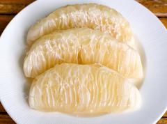 thai pomelo fruit peeled - stock photo