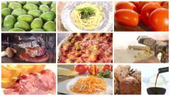 Italian food montage Stock Footage