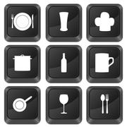 Computer buttons kitchenware Stock Illustration
