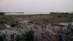 Africa seaport Bissau Guinea Bisseau Stock Footage