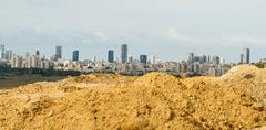 Tel aviv and  ramat gan. Stock Photos