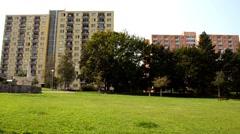 Suburban buildings Stock Footage