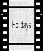 Holidays film strip Stock Illustration
