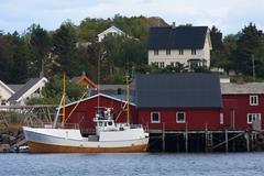lofoten archipelago - stock photo
