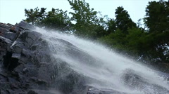 Arethusa Falls New Hampshire in Slow-Motion Stock Footage