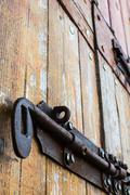old bold on a wood door - stock photo