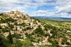 Medieval town of gordes at the provence Stock Photos