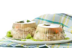 fish in aspic - stock photo