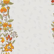 flower border, seamless texture with flowers. use as greeting card - stock illustration