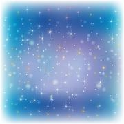 Stock Illustration of abstract celebration background with snowflakes and stars