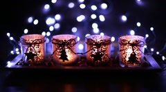 Stock Video Footage of Advent, four candles decorated Christmas tree